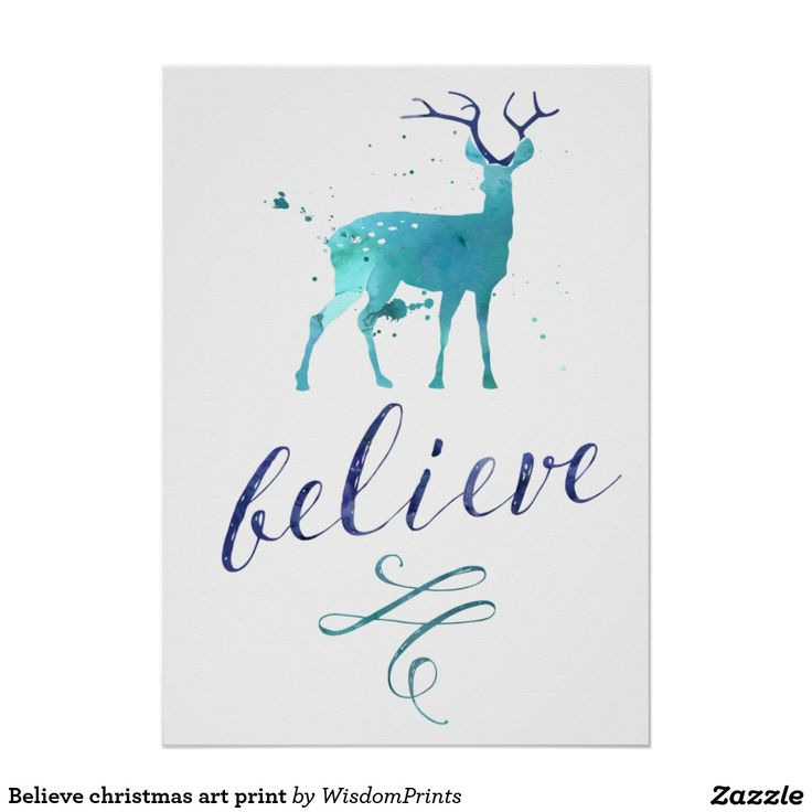 Believe christmas art print