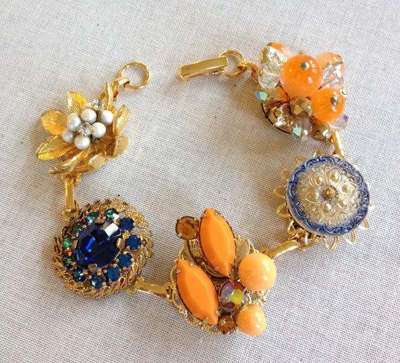 Vintage Earring armband bruidsmeisje door ChicMaddiesBoutique