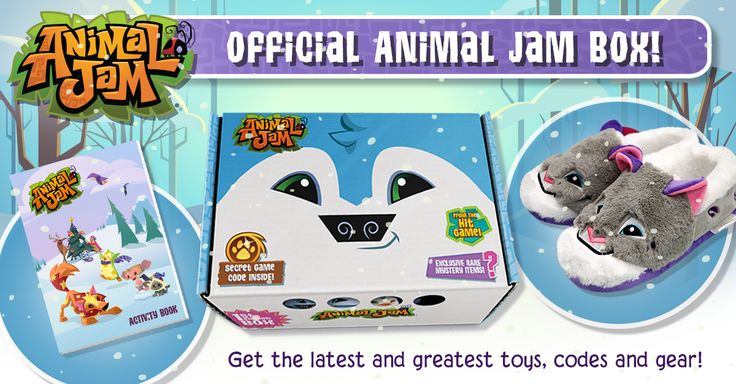 Jammers who sign up for the new ANIMAL JAM BOX can have all the coolest AJ stuff delivered right to their door! Supplies are limited, so visit ANIMALJAMBOX.COM to learn how to get the latest and greatest toys, codes, and other awesome Animal Jam gear! The Animal Jam Box is a paw-some subscription box containing exclusive products and game codes for Jammers - delivered every 3 months right to your door!