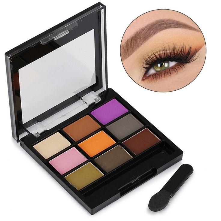New Arrival Women Professional 9 Colors Waterproof Eyeshadow Palette Eye Brightener Matte Make Up Eye Shadow Nude Cosmetics