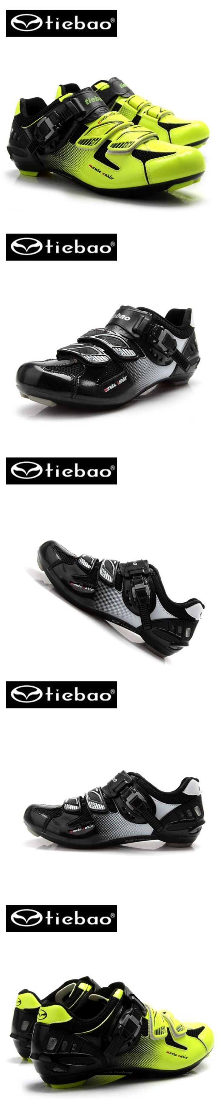 Tiebao New Tiebao Bicycle Racing Sports Road Cycling Shoes Breathable Athletic MTB Road Bike Auto-lock Shoes