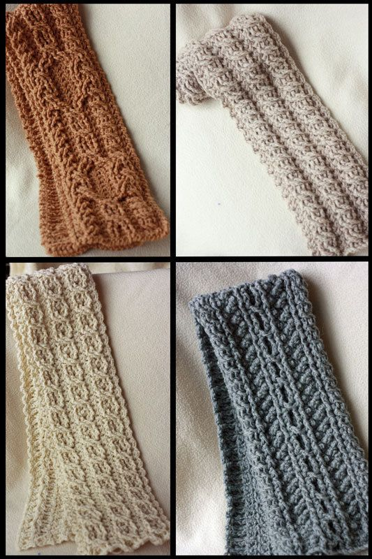 0ea1cd846c4 Canyon River Cable Scarves Crochet Pattern - 4 Striking Cable Designs