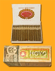 Hoyo de Monterrey Pre-Embargo Panetelas: Since the rise of Castro, Americans have been denied the pleasure of cuban cigars — unless they came into the country beforehand. This box of Hoyo de Monterrey Panetelas ($3125) includes 50 fine cigars dating back to the 1940's that are five inches in length, feature a 35 diameter, and are almost 100% sure to be better than the last Dominican you smoked.
