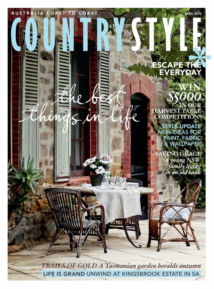 """Country Style April 2013 issue. Including """"The Cloud"""" - simply the best....by HotelHome. #hotelhomeaust #thecloud"""