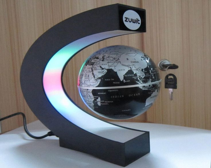 Zuwit floating globe with led lights magnetic field for Future home gadgets
