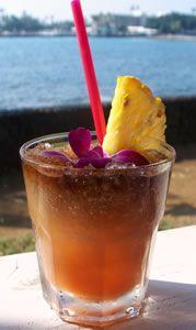 Delicious looking summer drink! Pineapple Mai Tai! Ingredients 1 ½ oz light rum ¾ oz dark rum ½ oz Grand Marnier 1 oz pineapple juice ½ oz fresh lime juice