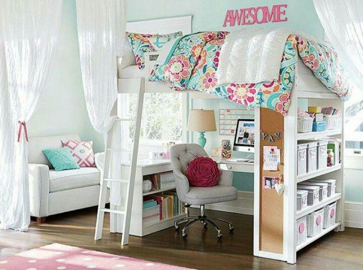 M s de 25 ideas incre bles sobre dormitorio en cobertizo for Cuartos para ninas tumblr