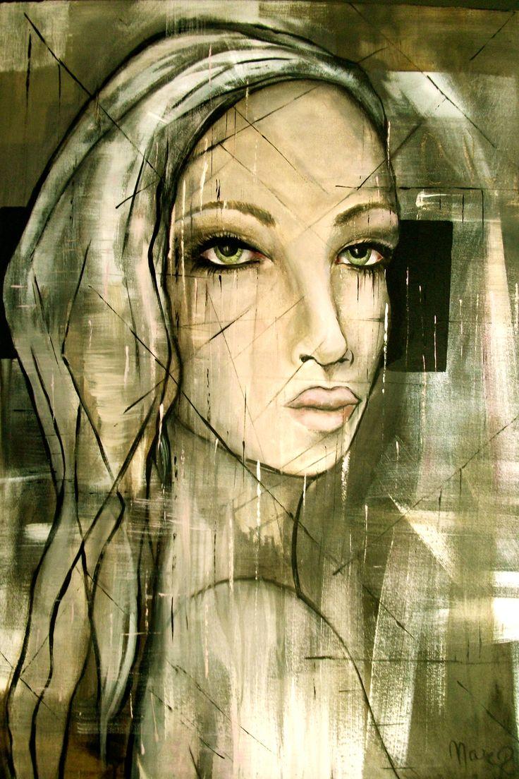 création Marie Poirier...format 30x40 po,,,,médium acrylique......