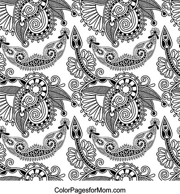 The 25 best paisley coloring pages ideas on pinterest for Paisley elephant coloring pages