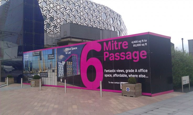 Building Hoardings: Large text.