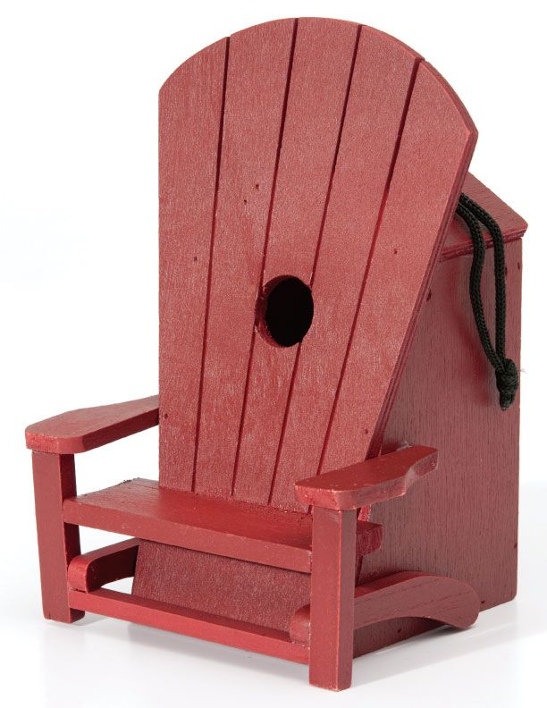 Let the bird stop and #relax this #CanadaDay with an adorable #adirondack bird house!