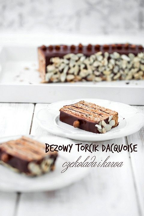 Torcik czekoladowo - kawowy dacquoise