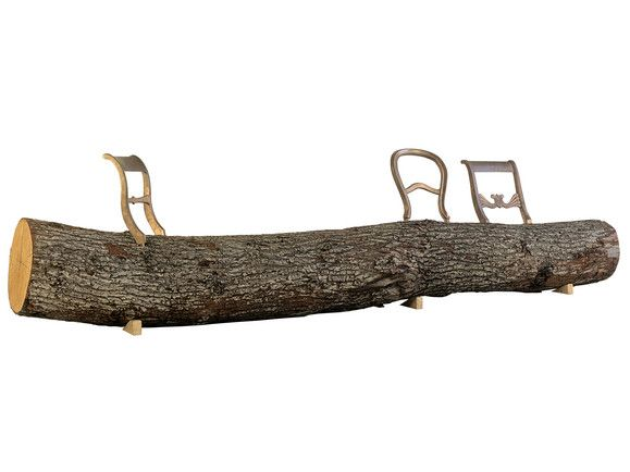 Tree-Trunk Bench by Droog. This would be great for the yard because it's like an extension of nature.