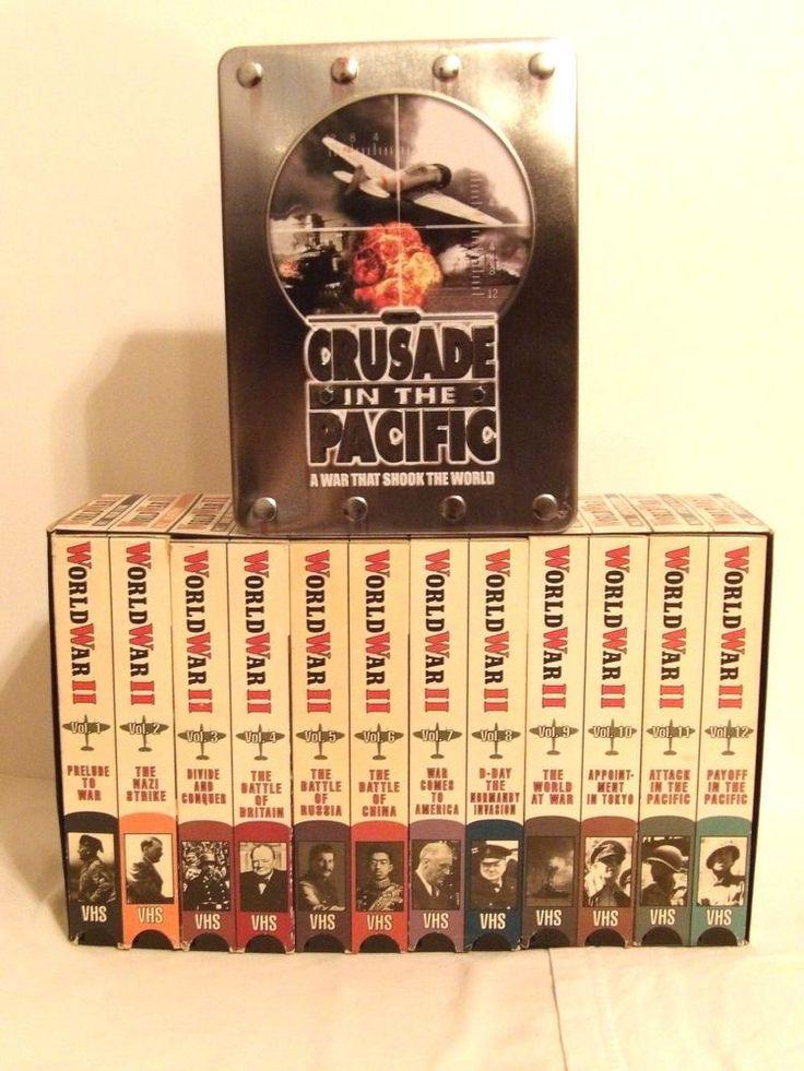 CRUSADE/ PACIFIC - TIN Set (DVD, 2005, 5-Discs) W/ Book & Frank Capra WWII - VHS