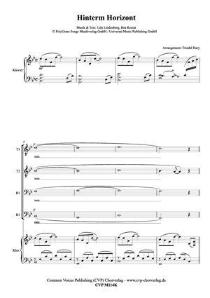 Gemischter Chor: Hinterm Horizont (geht's weiter) Titellied des gleichnamigen Musical von Udo Lindenberg