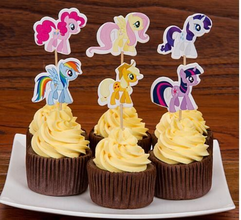 My Little Pony Cupcake Picks Set of 12 @ niftywarehouse.com #NiftyWarehouse #MyLittlePony #Cartoon #Ponies #MyLittlePonies