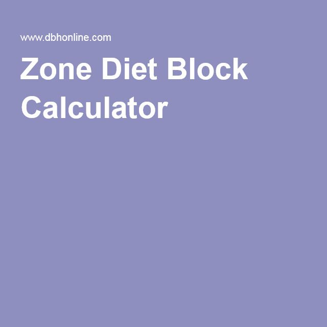 Zone Diet Block Calculator