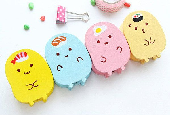 Kawaii Stationery Supplies We've all got piles of cute pens, stickers and notepads but even your most boring, but useful, stationery supplies can be made kawaii, thanks to Etsy.