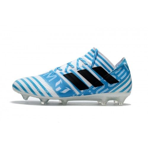Buy New 2017 Adidas Nemeziz 17.1 FG Soccer Cleats White Blue Black Sale Online Soccer Shoes Online