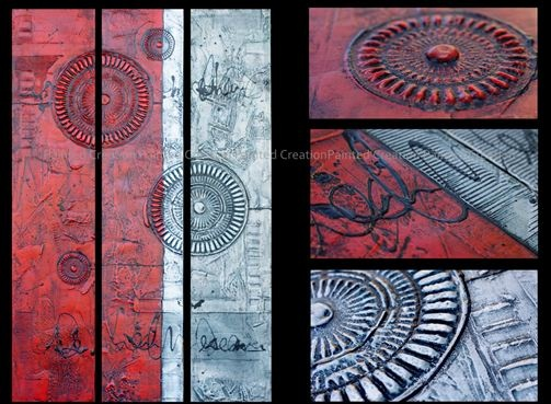 Painted Creation - Handpainted Red Art