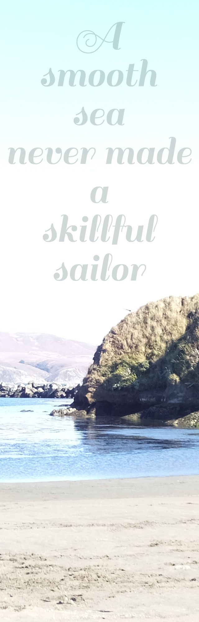 A smooth sea never made a skillful sailor .Work hard and brave the storms.