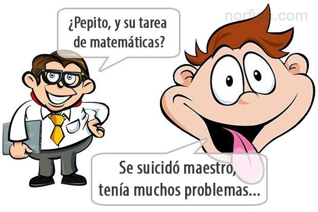 Chiste de Pepito y la tarea de matemáticas