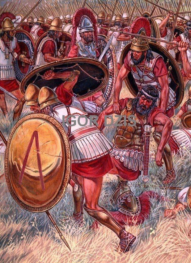 IGOR DZIS Battle painting: Battle of Coronea (394 BC) As ...