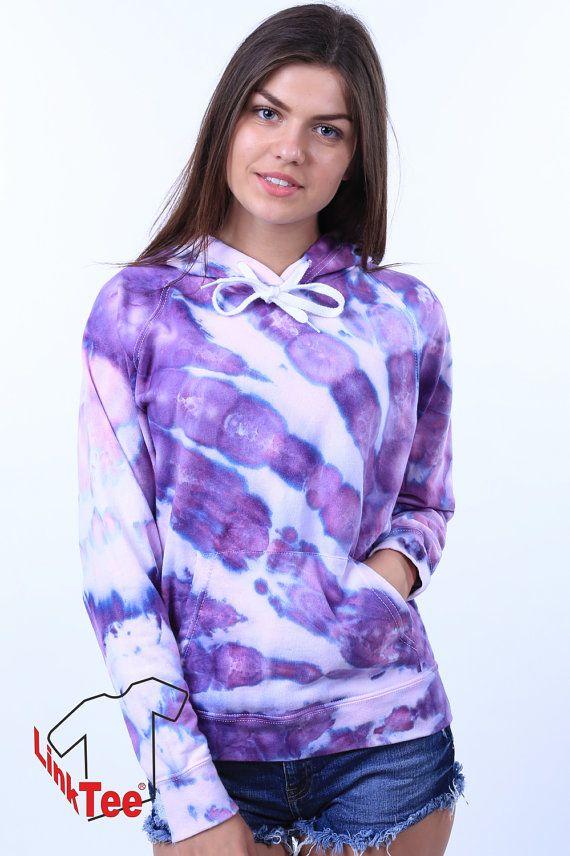 Pastel Purple Hipster Urban Trippy Tie Dye Sweatshirt by LinkTee