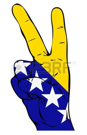 love: Peace Sign flag of Bosnia and Herzegovina