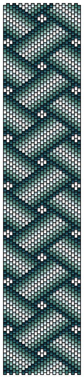 Peyote pattern rubans croisés by Pencio