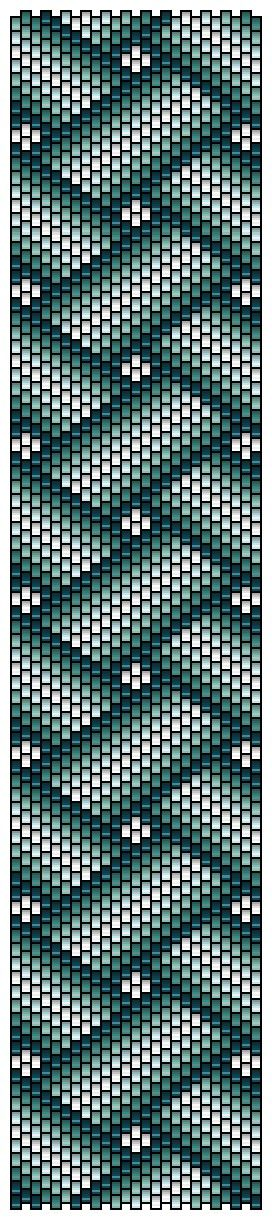 Peyote pattern rubans croisés by Pencio...(would make a great Bargello quilt)....