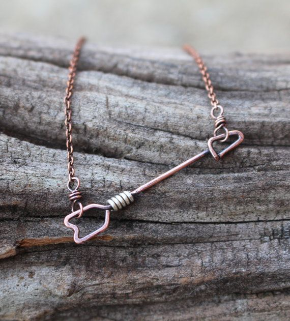 Hey, I found this really awesome Etsy listing at https://www.etsy.com/listing/208838184/tiny-rustic-arrow-necklace-copper