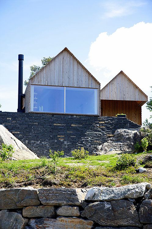 Weekend house Stødle at Seljestad. Architect: Knut Hjeltnes Arkitekter.