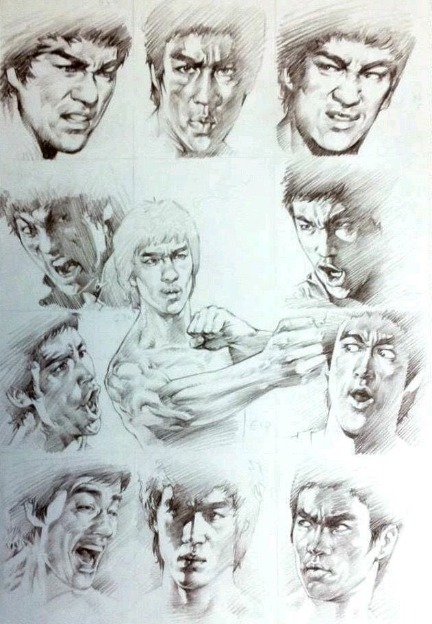 Wow Very Good Sketches of Bruce Lee.