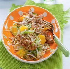Recept voor spitskoolsalade met mango en gegrilde kip