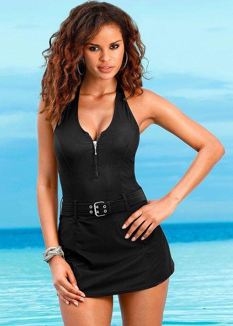 5f3a7f721af Venus Women s Slimming Swim Dress One-Piece Swimsuit - Black