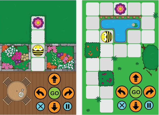 Bee-Bot App: a simple introduction to primary computing based on the Bee-Bot floor robot. Makes use of the keypad functionality and enables children to improve their skills in directional language and programming through sequences of forwards, backwards, left and right 90 degree turns. 12 timed levels set in a garden scenario. Aimed at age 4 upwards.