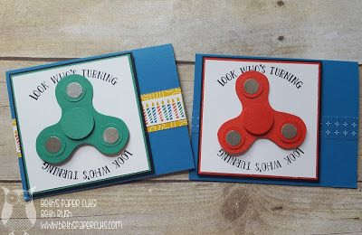 Beth's Paper Cuts: Fidget Spinner Birthday Card