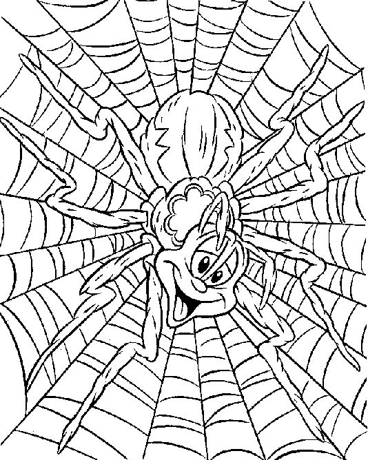18 best herfst spinnen kleurplaten images on