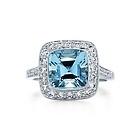 Aquamarine with diamonds