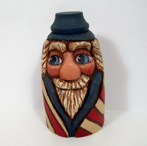 Patriotic Uncle Sam Wood Carving Americana Decor by llacarve, $45.00