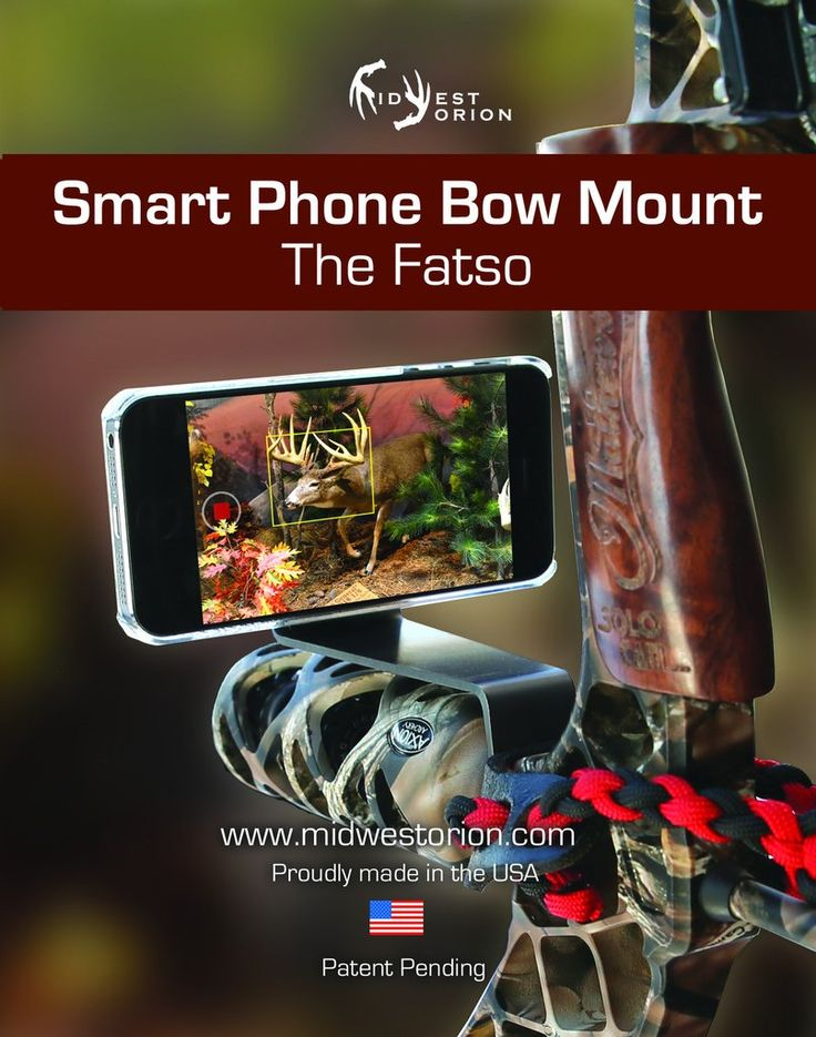 Use your smartphone / cell phone camera to capture your hunt on video camera, hands free. Video record your own bow hunting while staying ready for the shot. Bow stabilizer mounted cell phone video ca