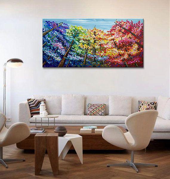 One-of-a-kind art.  Origineel schilderij, one-of-a-kind, 100% hand geschilderd op linnen doek. Bekleed met een laag van halve glanzende vernis. Dikke verf, gratis lijnvoering, expressionistische impasto style, delicate kleurtonen, creëren van een diepe, doordachte surrealistisch visuele illusie. Kleuren zijn helder, vol met lagen, gloed als het brandpunt van een kamer. Het ziet er rustig. Het kalmeert je geest, een warme aanraking als een home decor voor drukke leven.  KLAAR om te hangen…