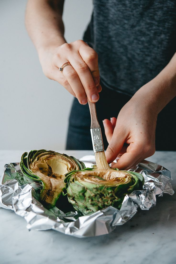Garlic & Lemon Roasted Artichoke w/ Almonds and Basil | RK