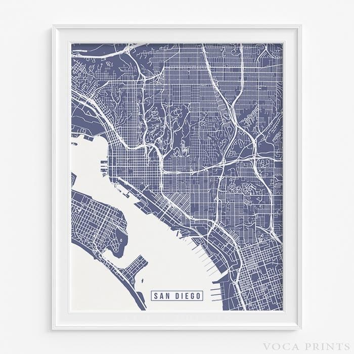 San Francisco Road Map Pdf%0A San diego  california street map print