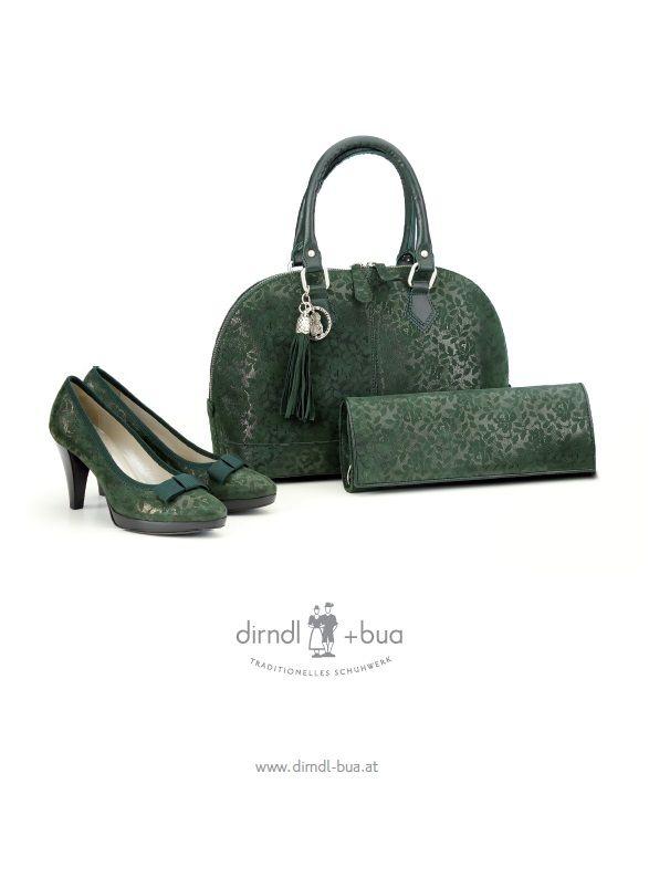 Trachtenschuhe und Taschen von dirndl+bua  Rosengarten grün