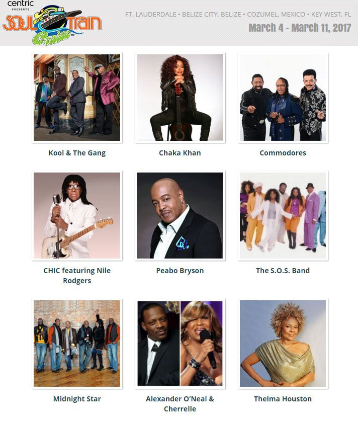 04 Mar 2017 - Celebrity Summit - 7 Night The Soul Train Cruise - ex Fort Lauderdale, Florida @ http://soultraincruise.com/