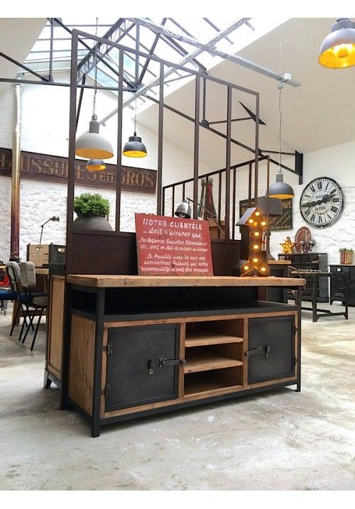 266 best deco images on Pinterest Industrial furniture, Rustic