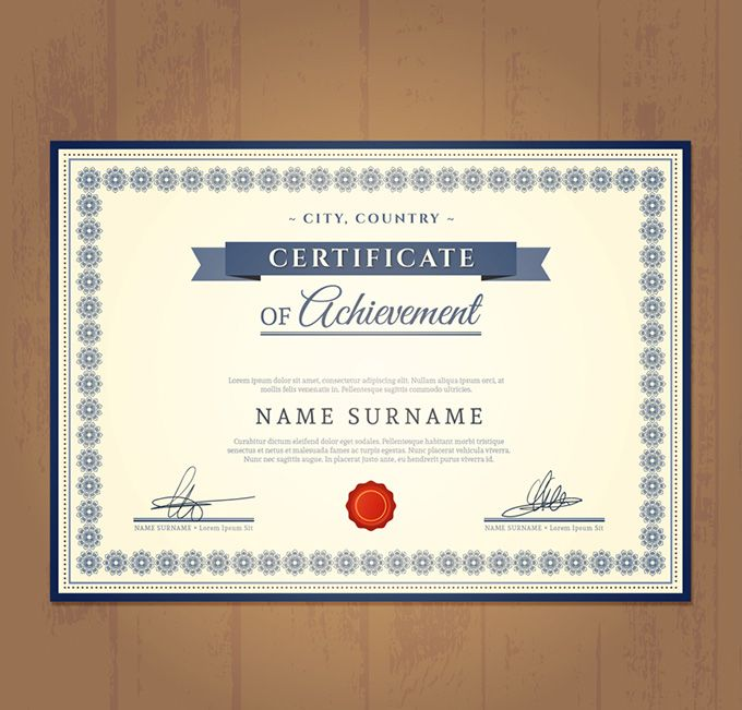 16 best Good certificate design images on Pinterest Certificate - certificate of achievement templates free download
