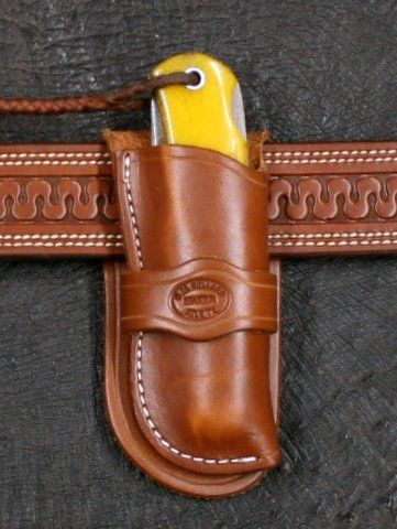 Cowboy Knife Sheath for Jumbo Trapper - D.M. Bullard Leather Mfg.